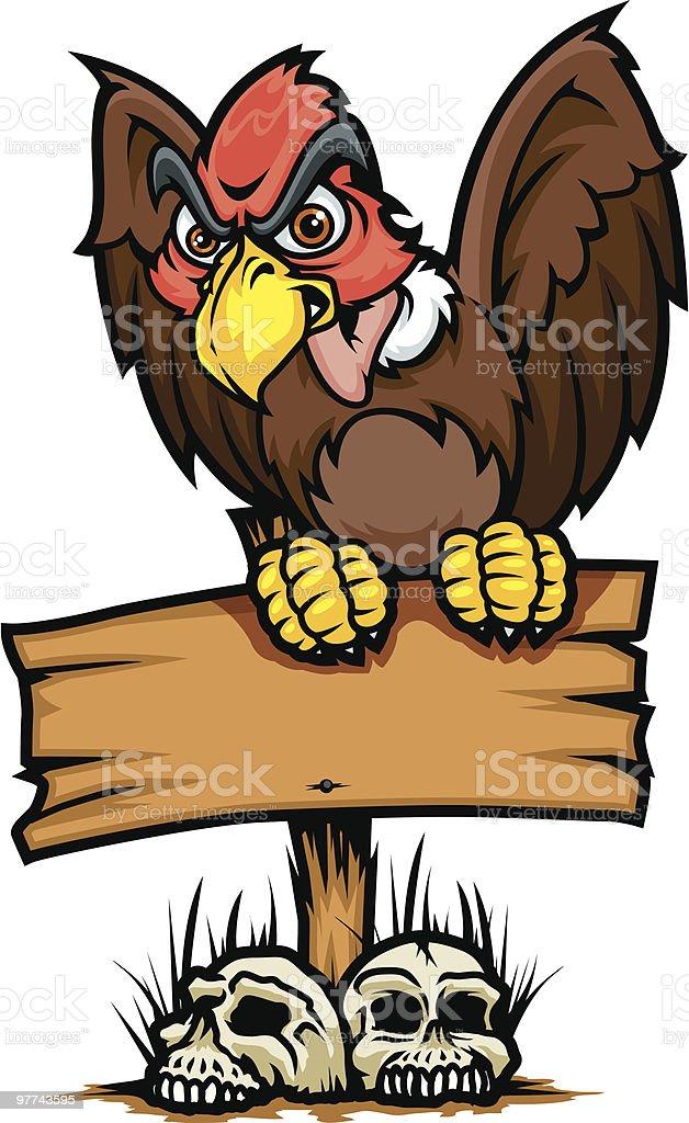 Vulture Sign vector art illustration