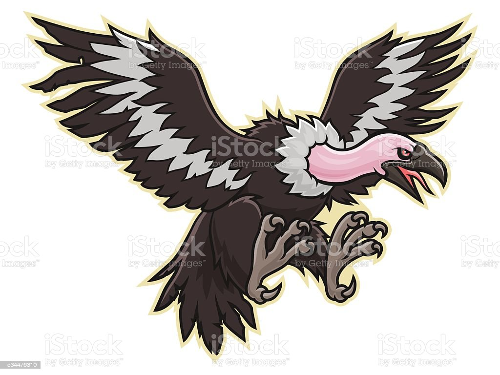 Vulture vector art illustration