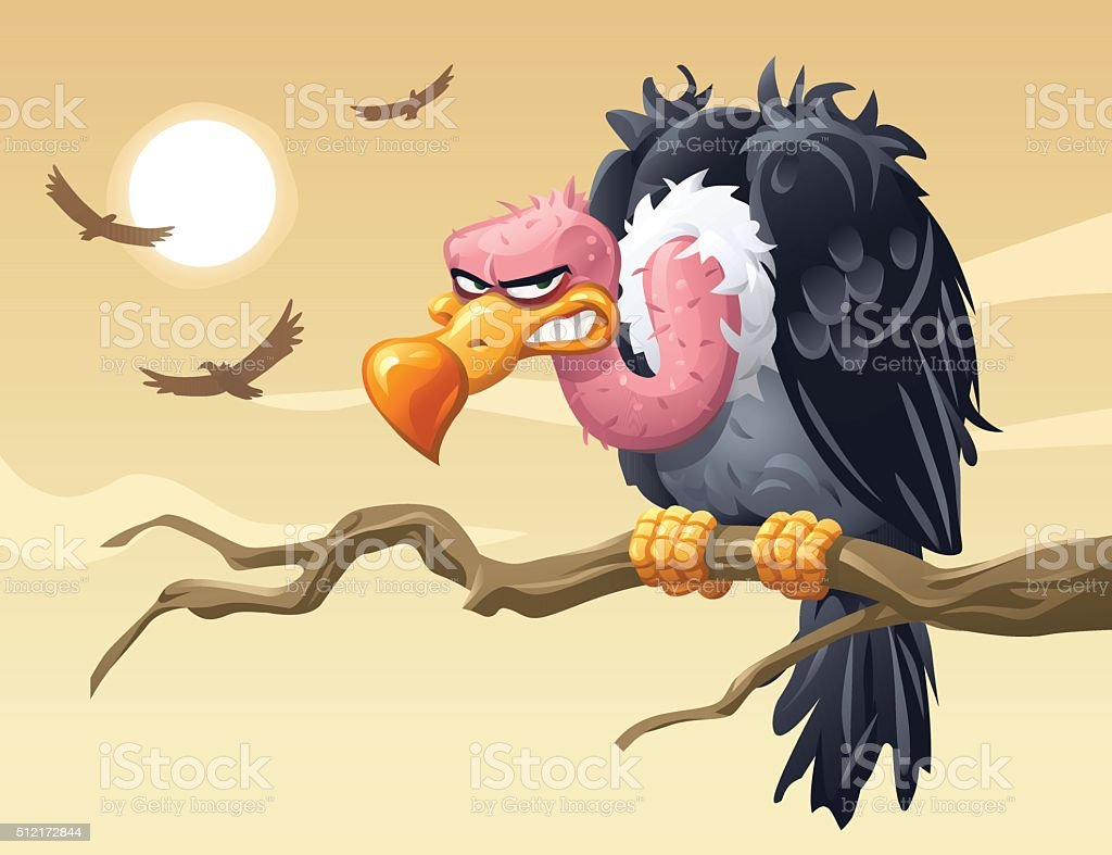 Vultures vector art illustration