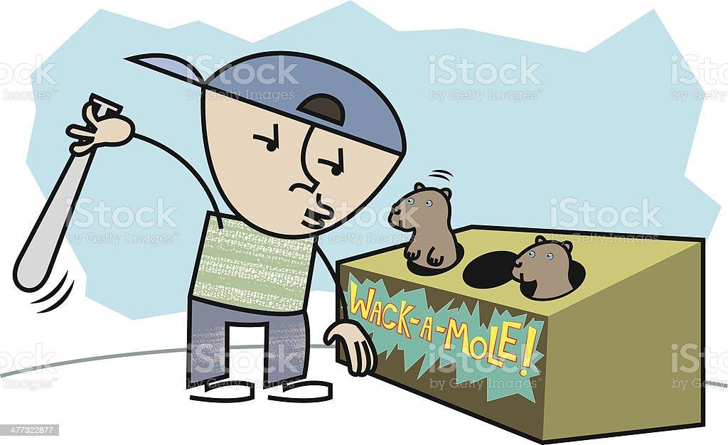 Wack-a-mole! royalty-free stock vector art