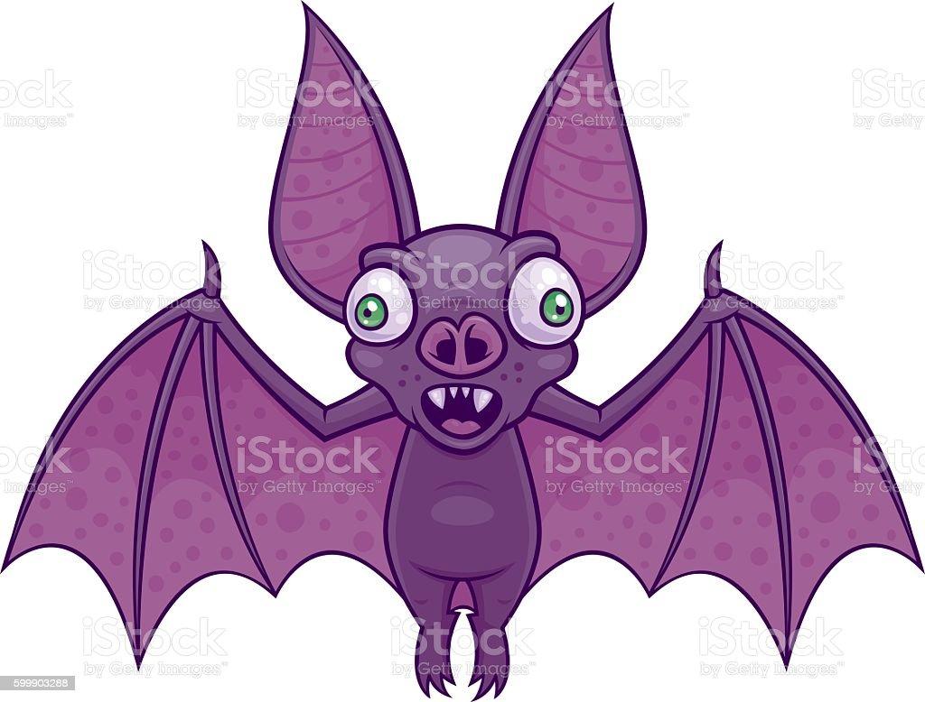 Wacky Bat vector art illustration