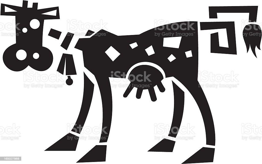 Wacky Cow royalty-free stock vector art