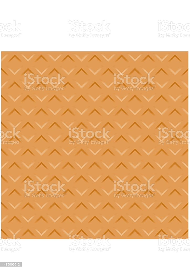 Wafer seamless texture background. Pattern Vector vector art illustration