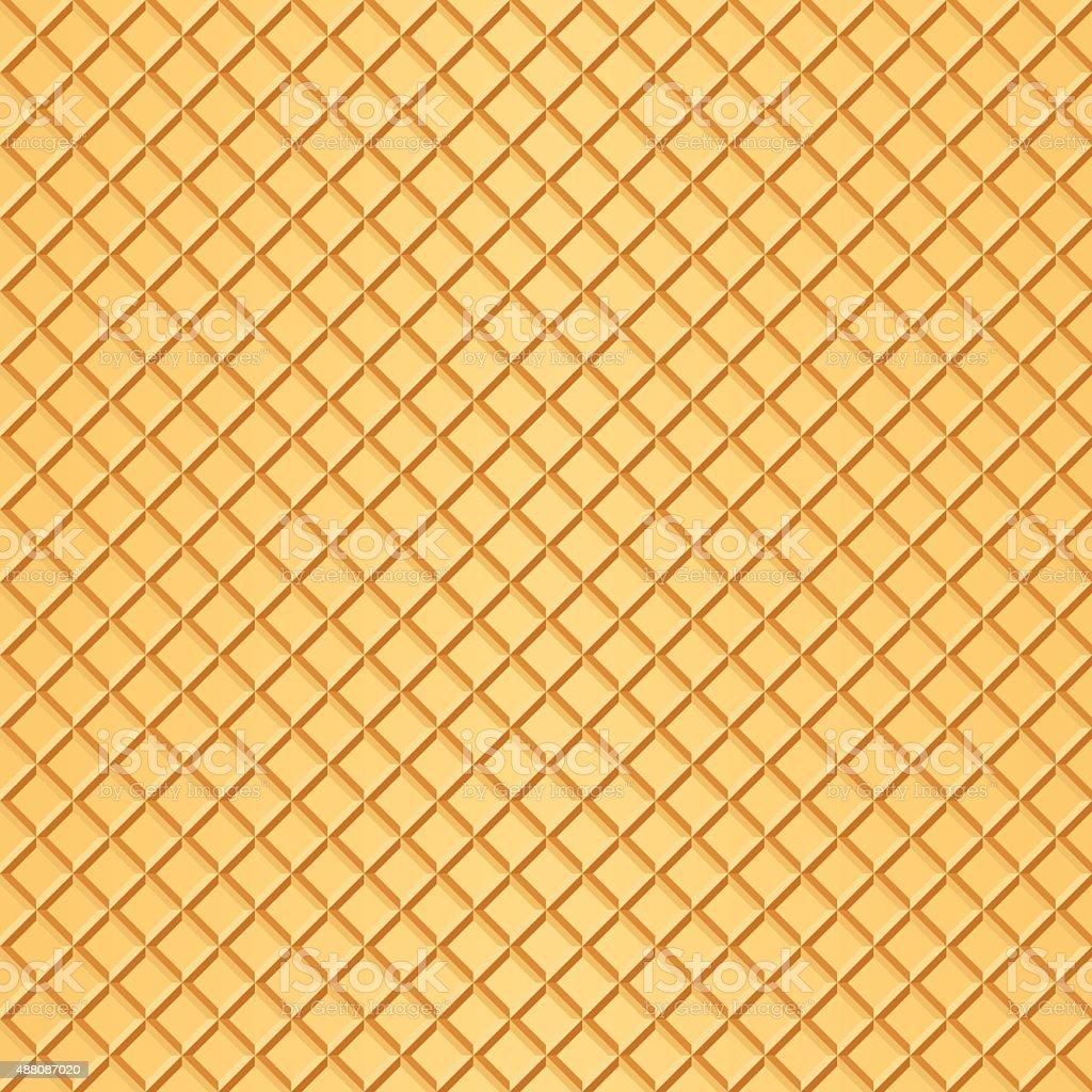 Waffle background vector vector art illustration