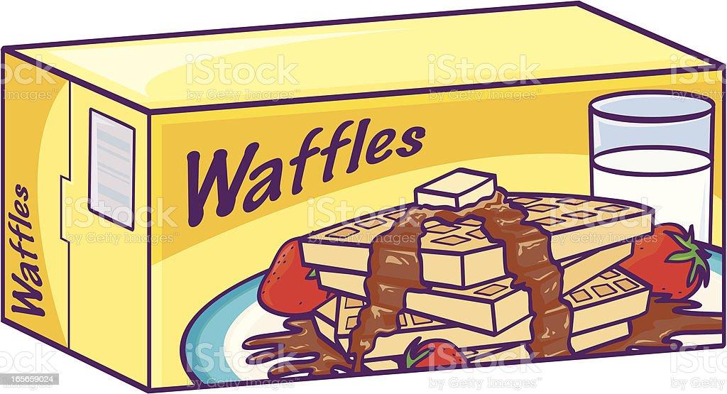 waffle box royalty-free stock vector art