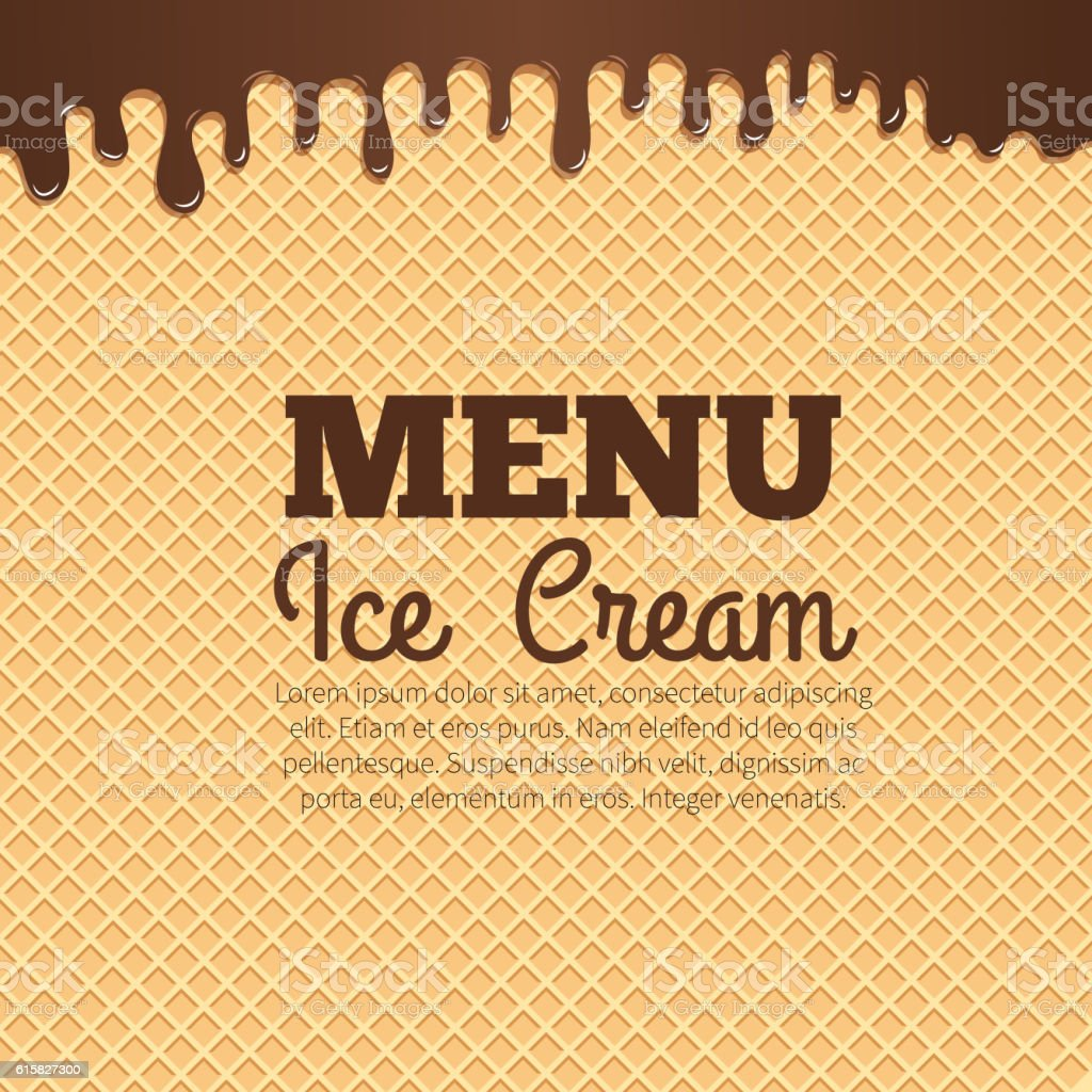 Waffle texture background for cafe menu design vector art illustration