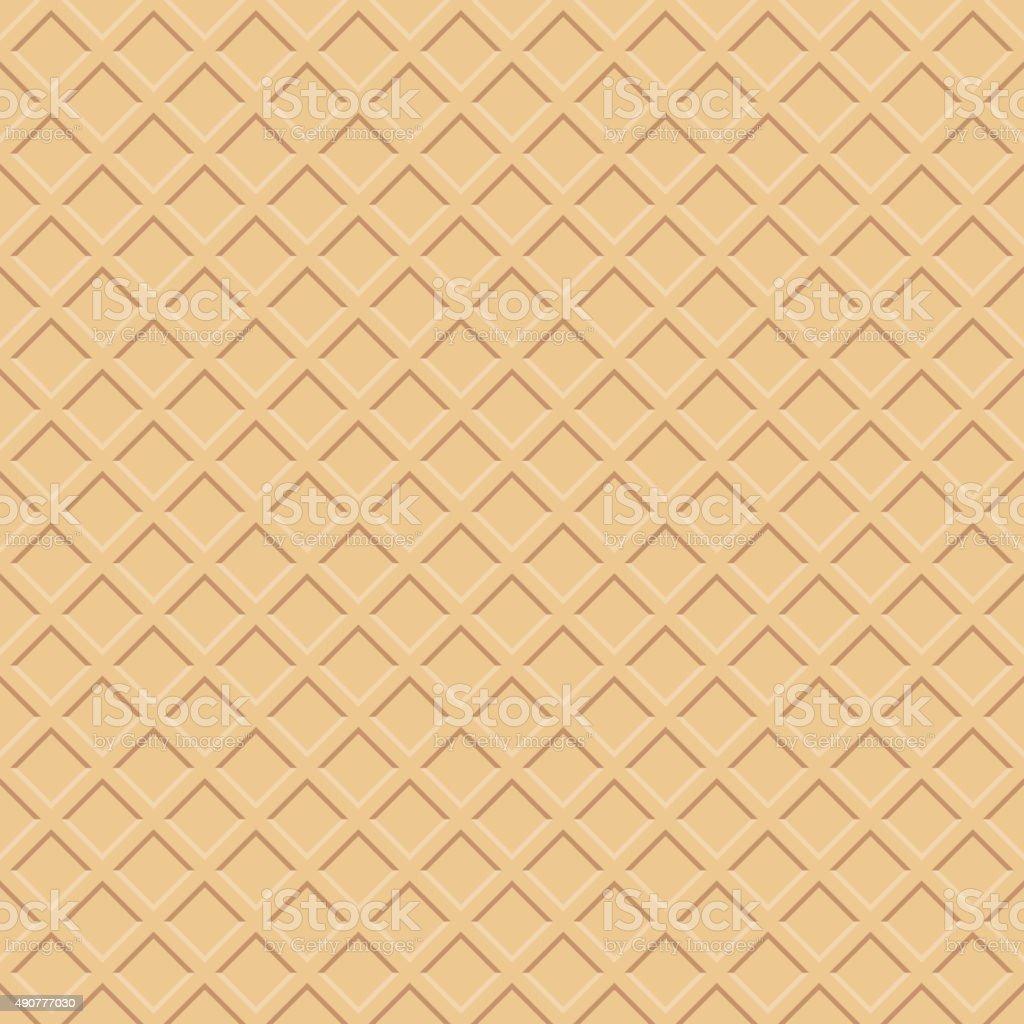 Waffle texture vector art illustration