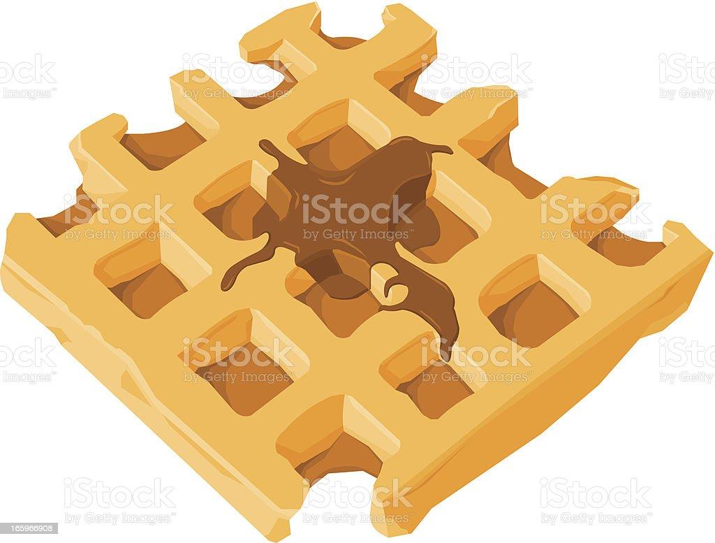 Waffle royalty-free stock vector art