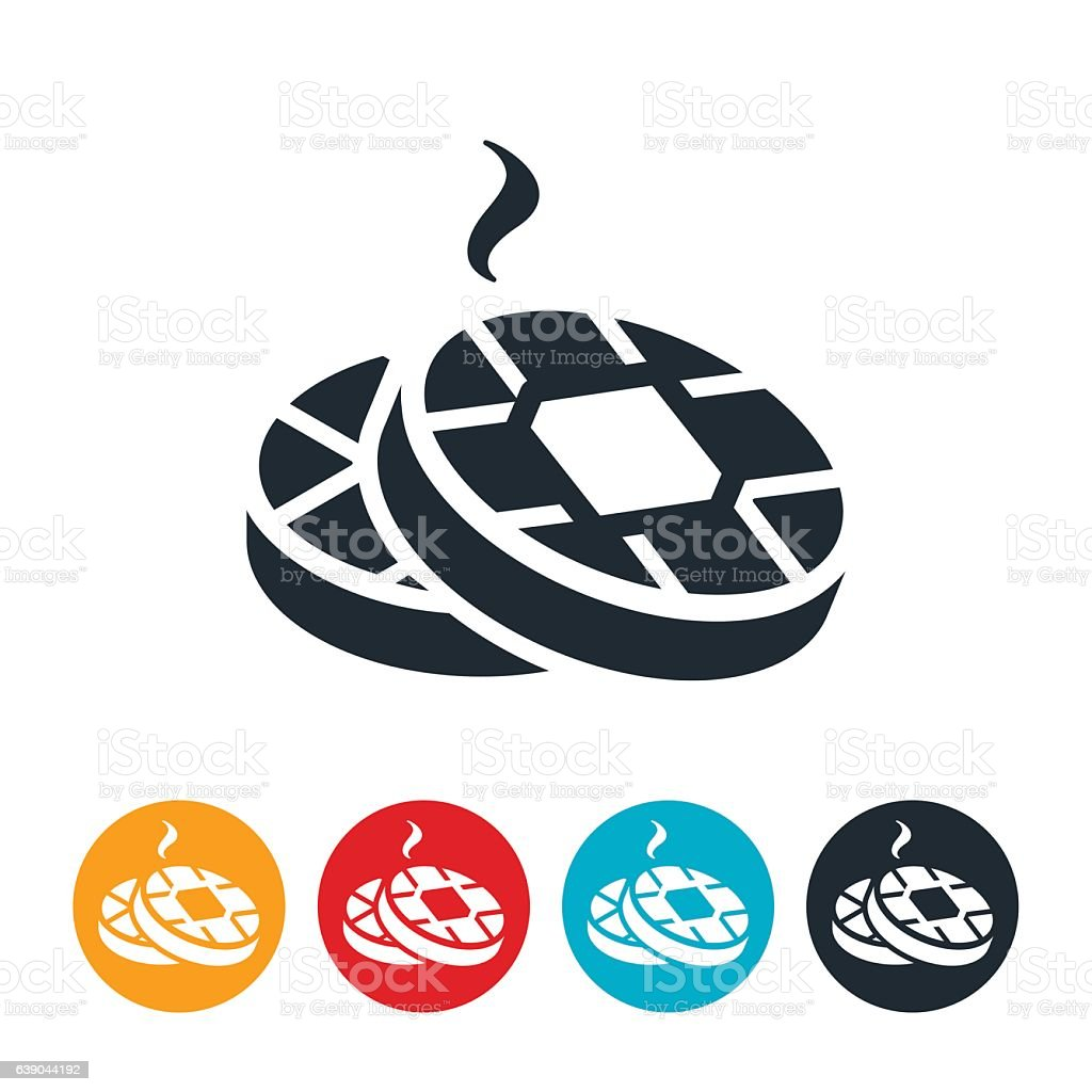 Waffles Icon vector art illustration