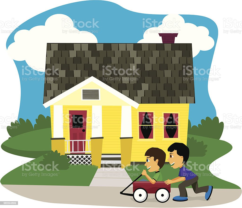 Wagon Ride royalty-free stock vector art