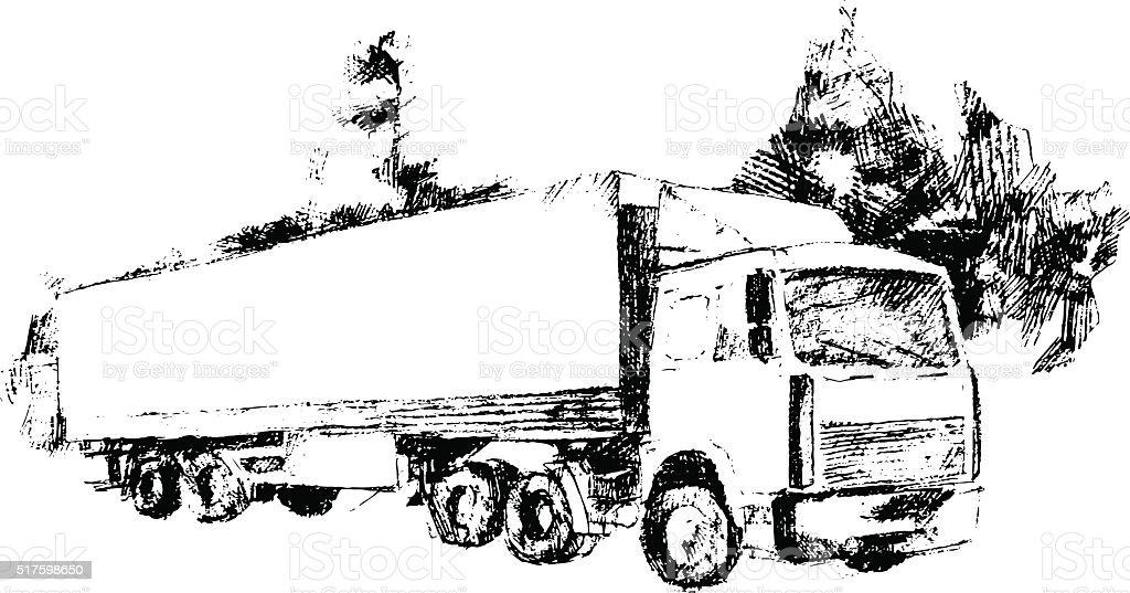 Wagon, vector illustration vector art illustration