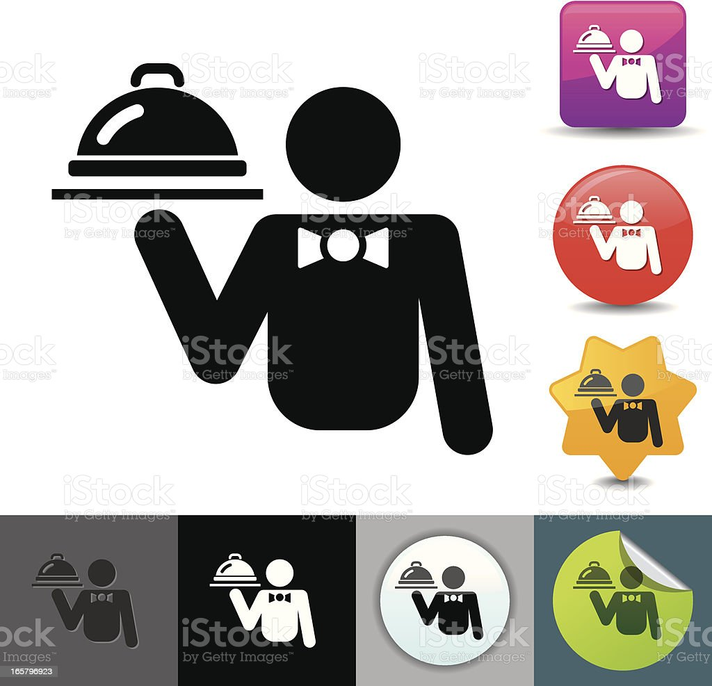 Waiter icon | solicosi series vector art illustration