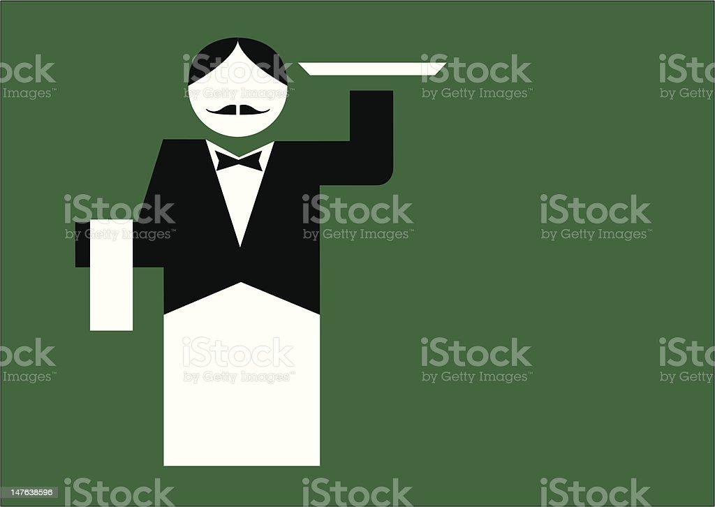 Waiter. royalty-free stock vector art
