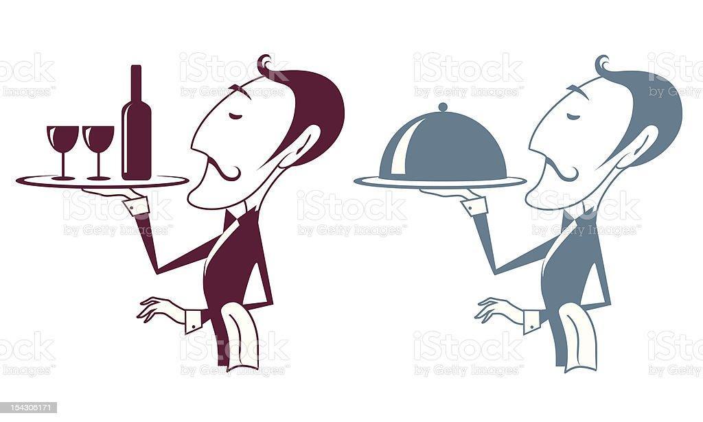 Waiter royalty-free stock vector art