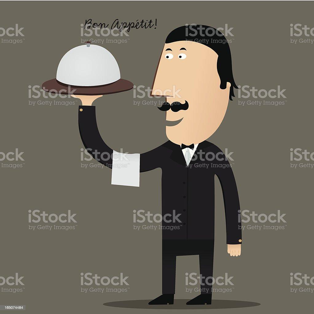 Waiter's Message royalty-free stock vector art