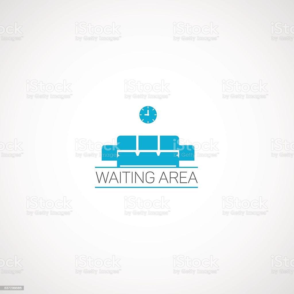 Waiting area. vector art illustration