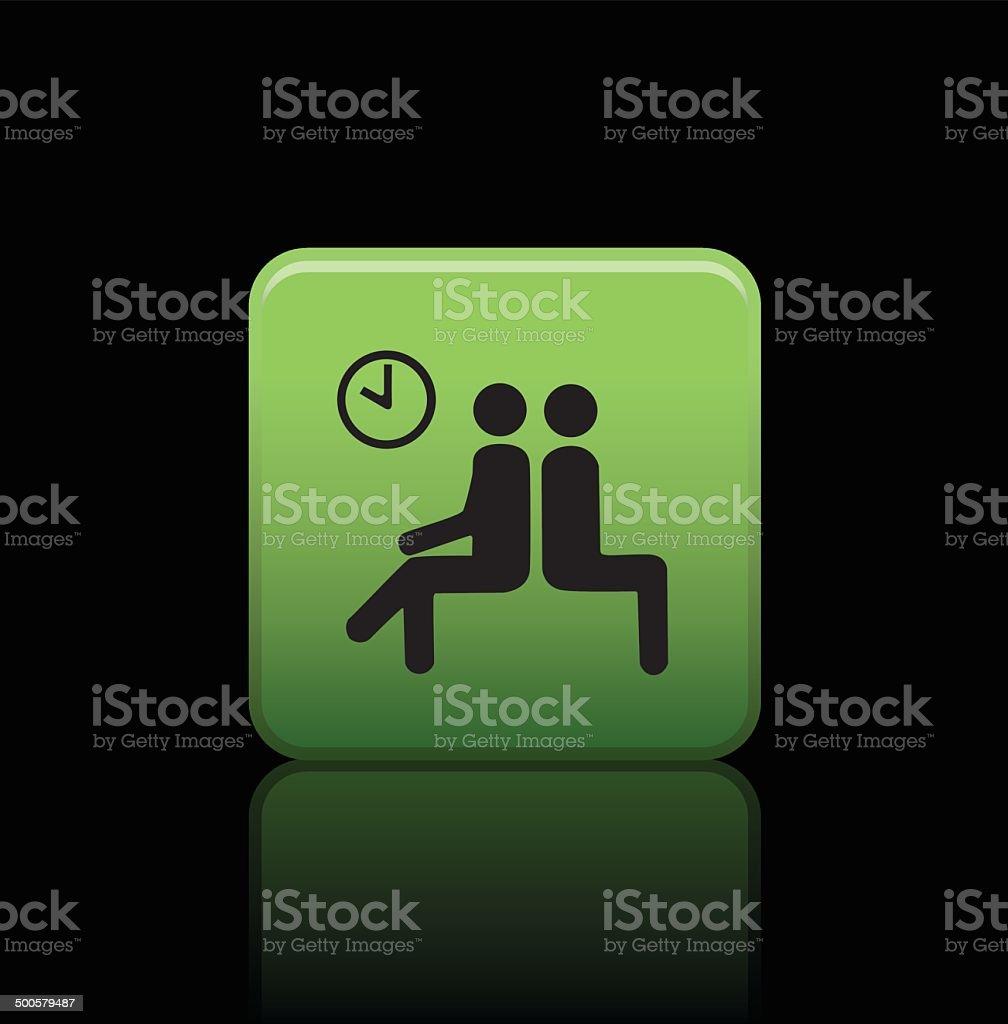 waiting button icon vector art illustration