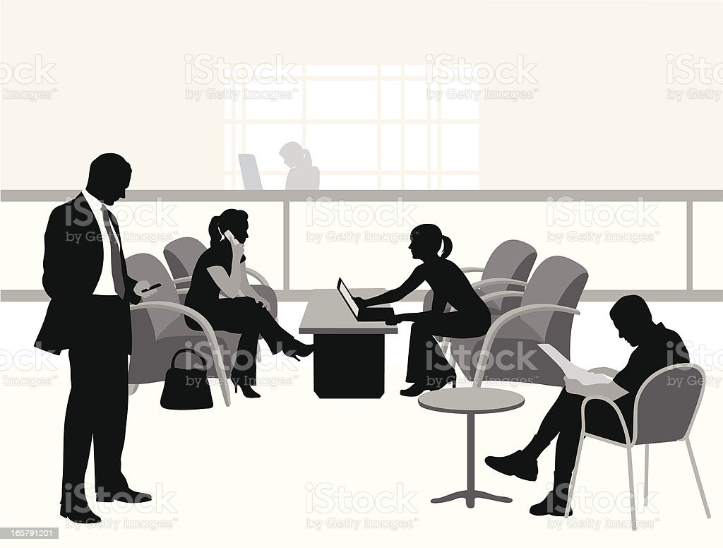 Waiting Distractions Vector Silhouette royalty-free stock vector art
