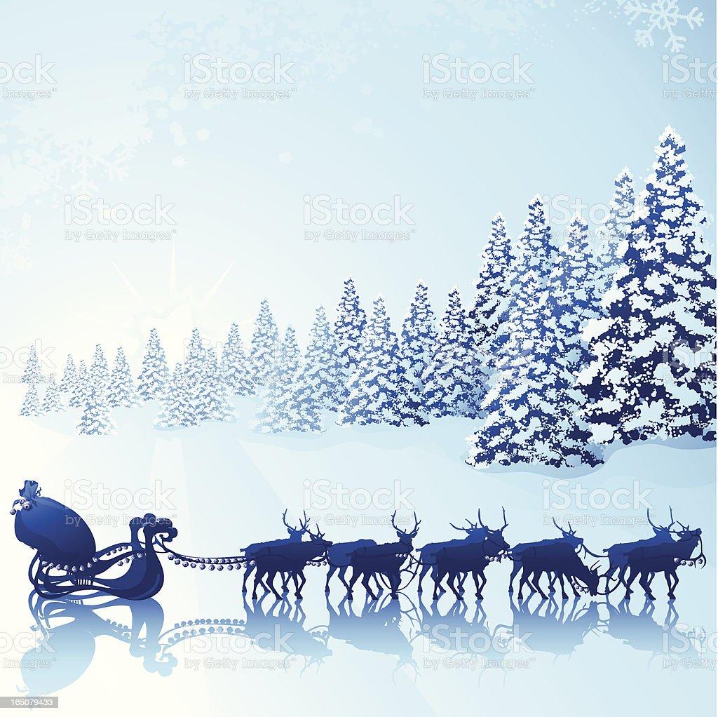 Waiting for Santa vector art illustration