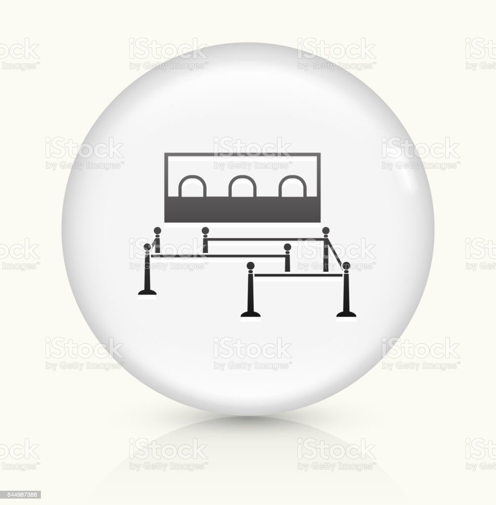 Waiting Line icon on white round vector button vector art illustration