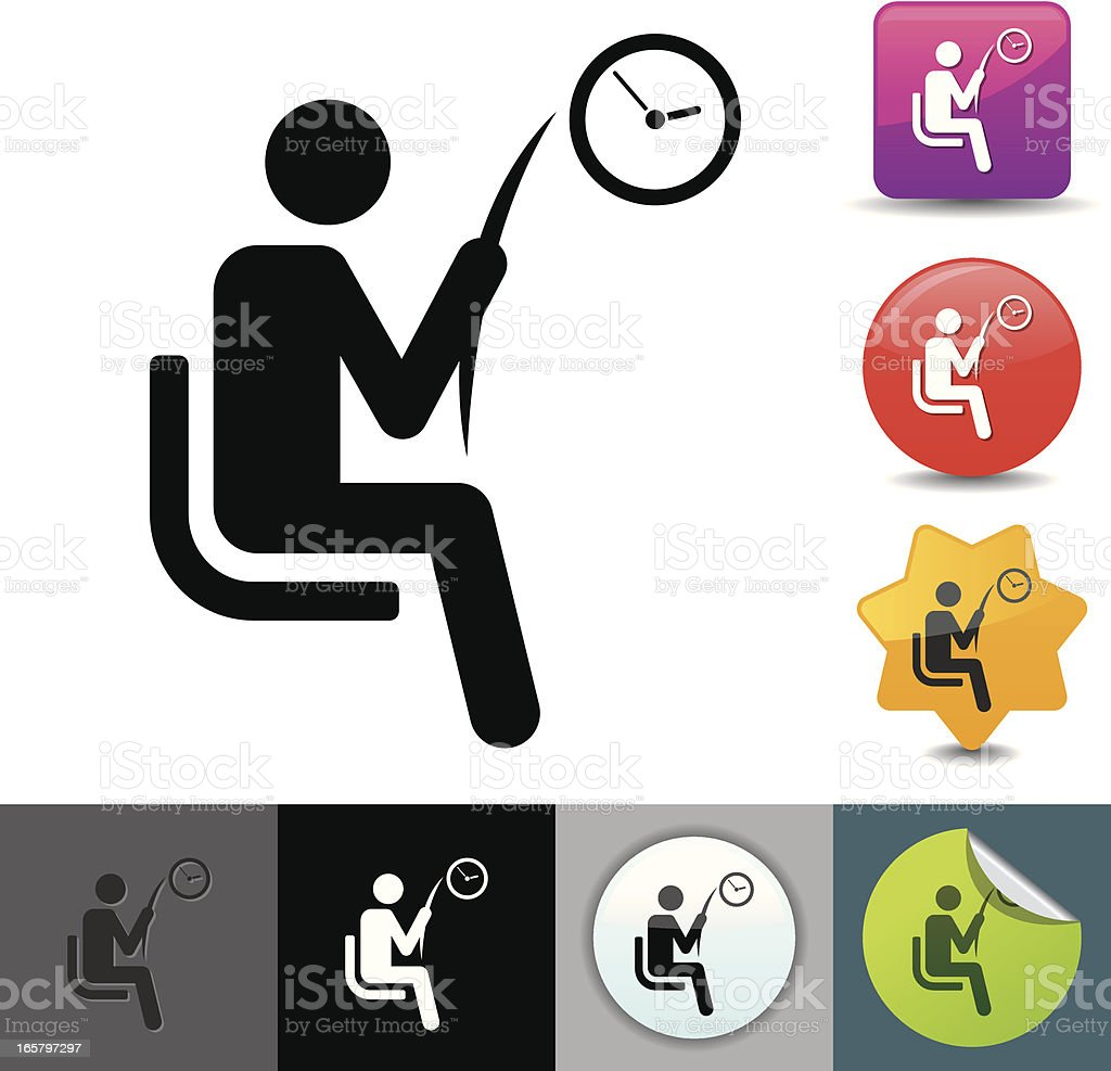 Waiting room icon | solicosi series vector art illustration