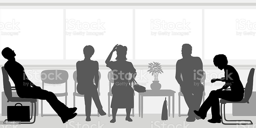 Waiting room vector art illustration