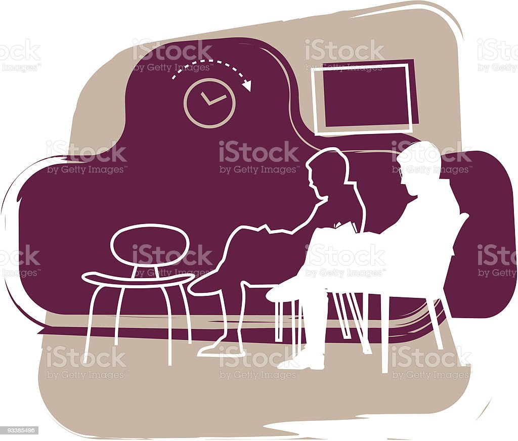Salon d'attente royalty-free stock vector art