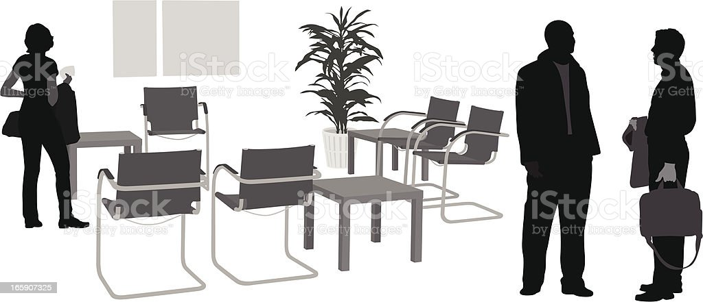 Waiting Room Vector Silhouette royalty-free stock vector art