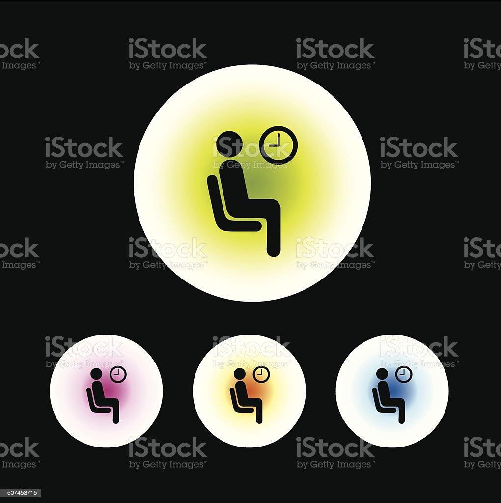 waiting symbol vector art illustration