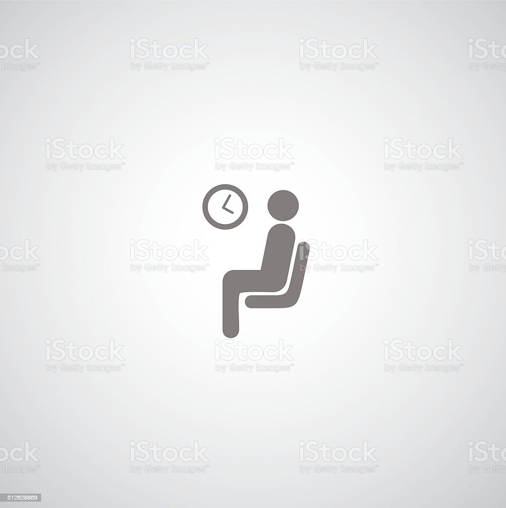 waiting symbol vector art illustration
