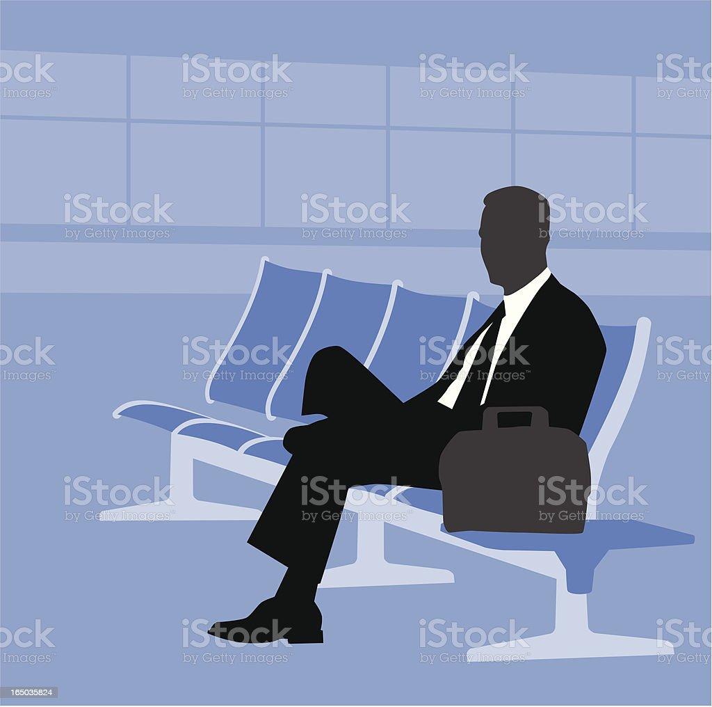 Waiting Traveler royalty-free stock vector art