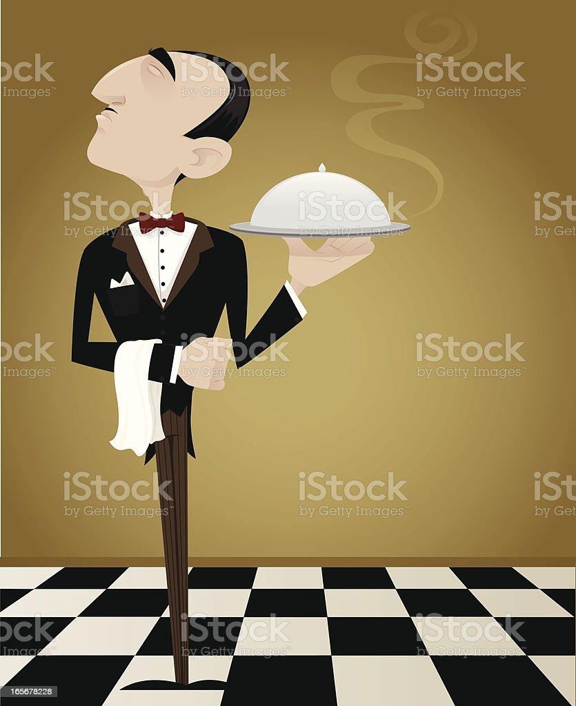 Waiting Waiter royalty-free stock vector art