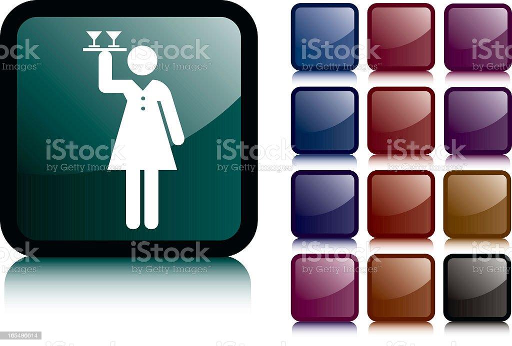 Waitress Icon royalty-free stock vector art