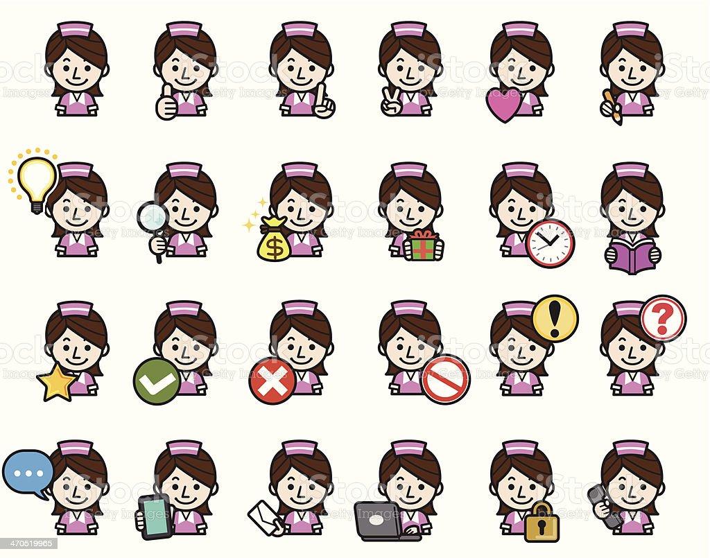 Waitress icons royalty-free stock vector art