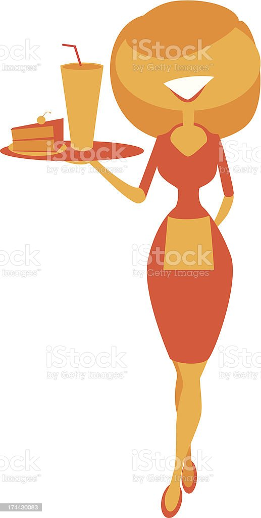 Waitress royalty-free stock vector art