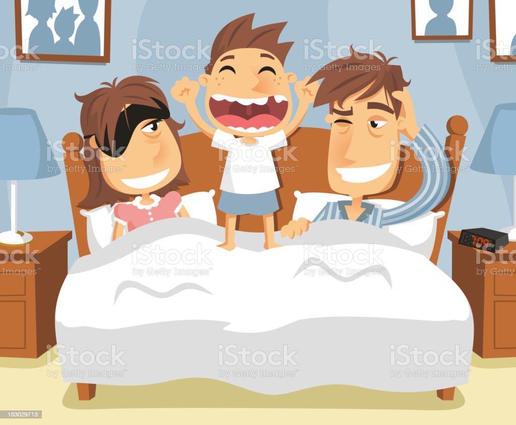 wake up vector art illustration