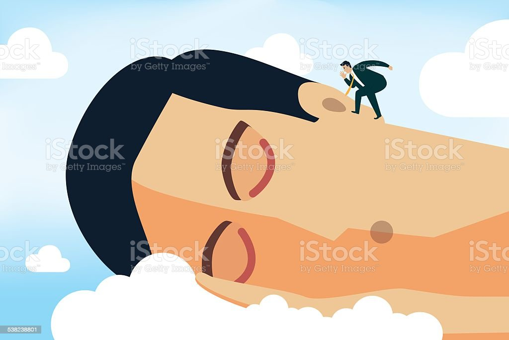 Wake Up! vector art illustration