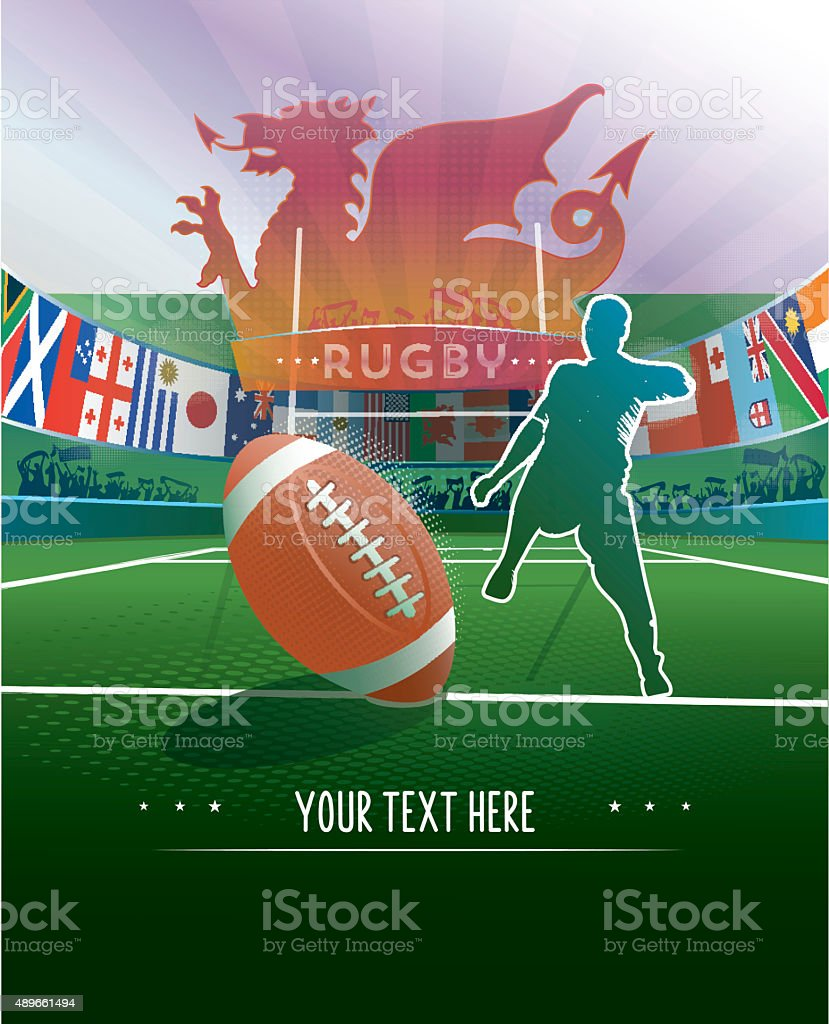 wales rugby stadium background stock photo