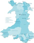 Wales Vector Map Regions Isolated