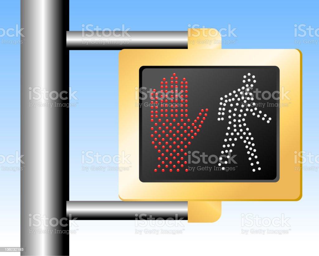 Walk Don't walk sign royalty-free stock vector art