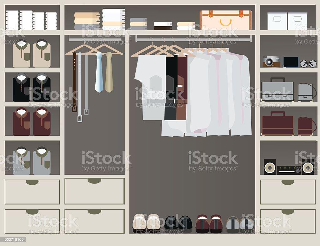 walk in closet12 vector art illustration