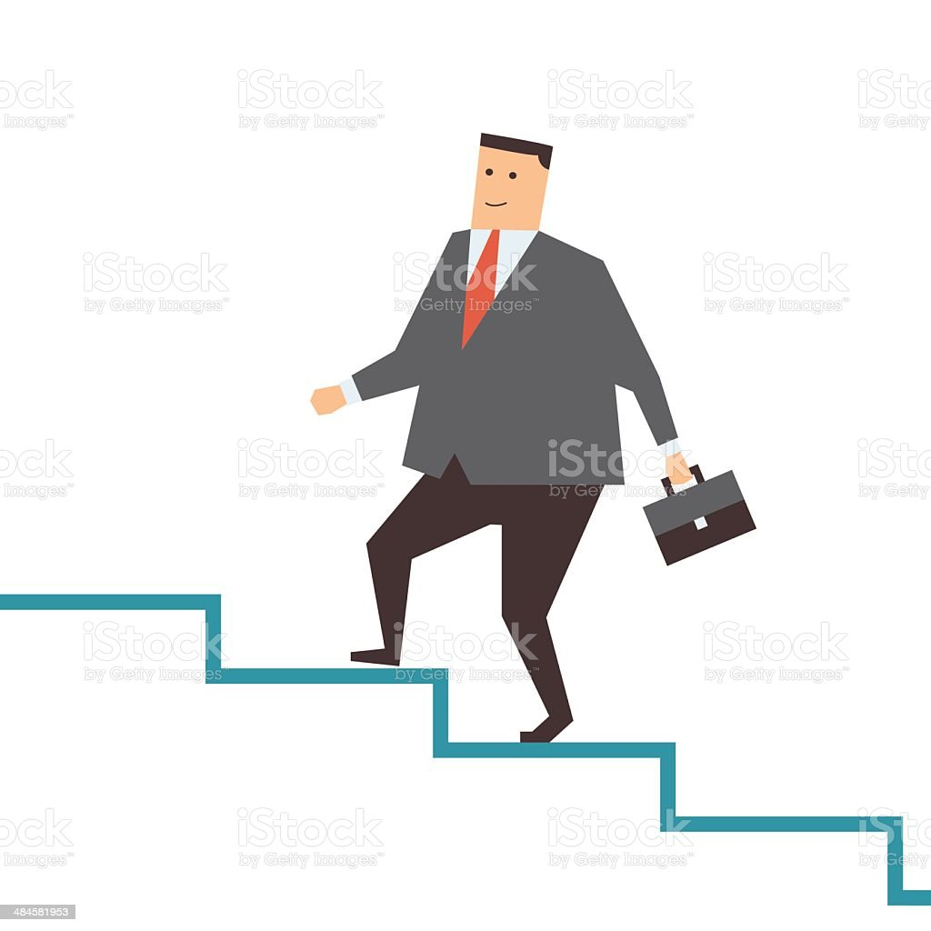 Walk on step royalty-free stock vector art