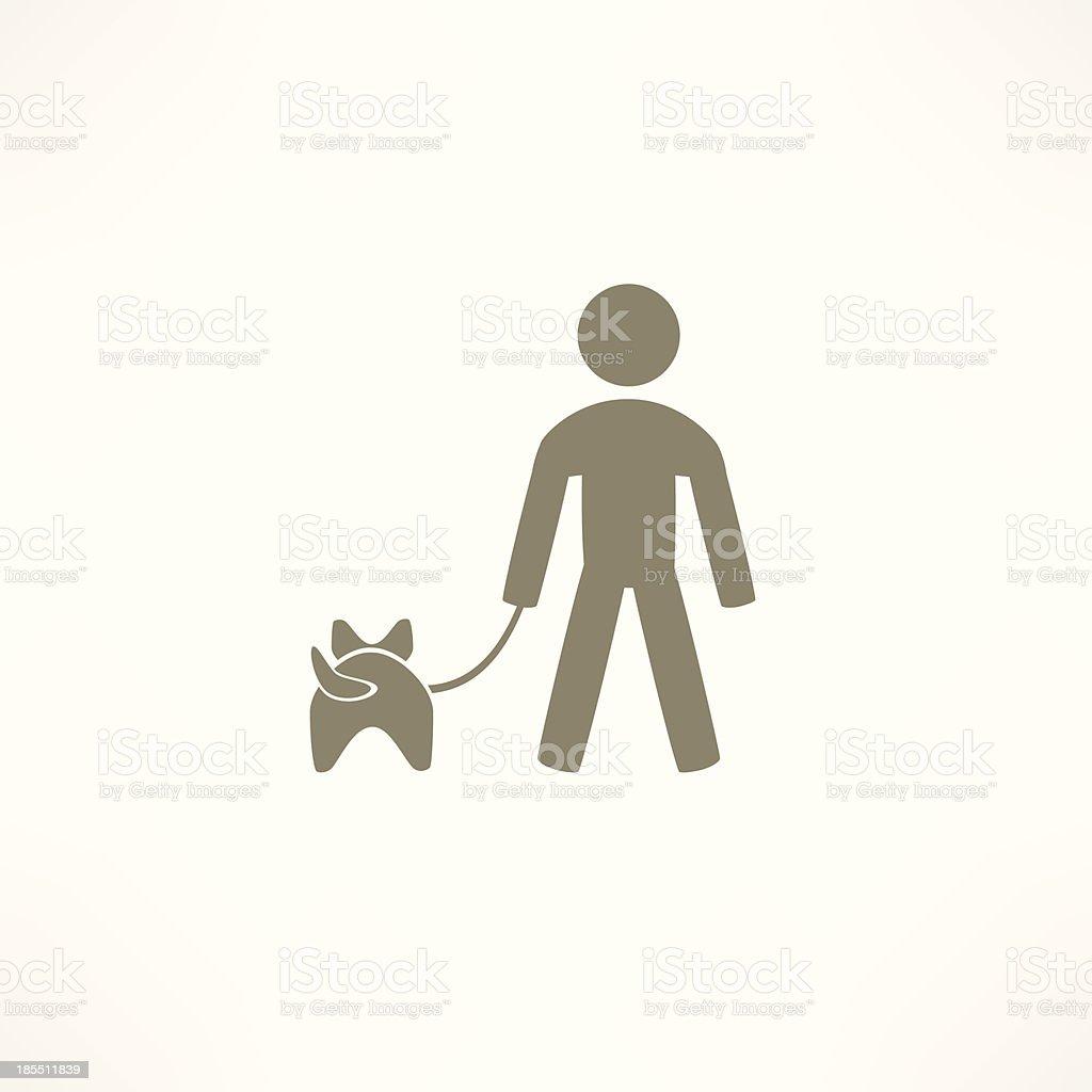 walk the dog icon royalty-free stock vector art