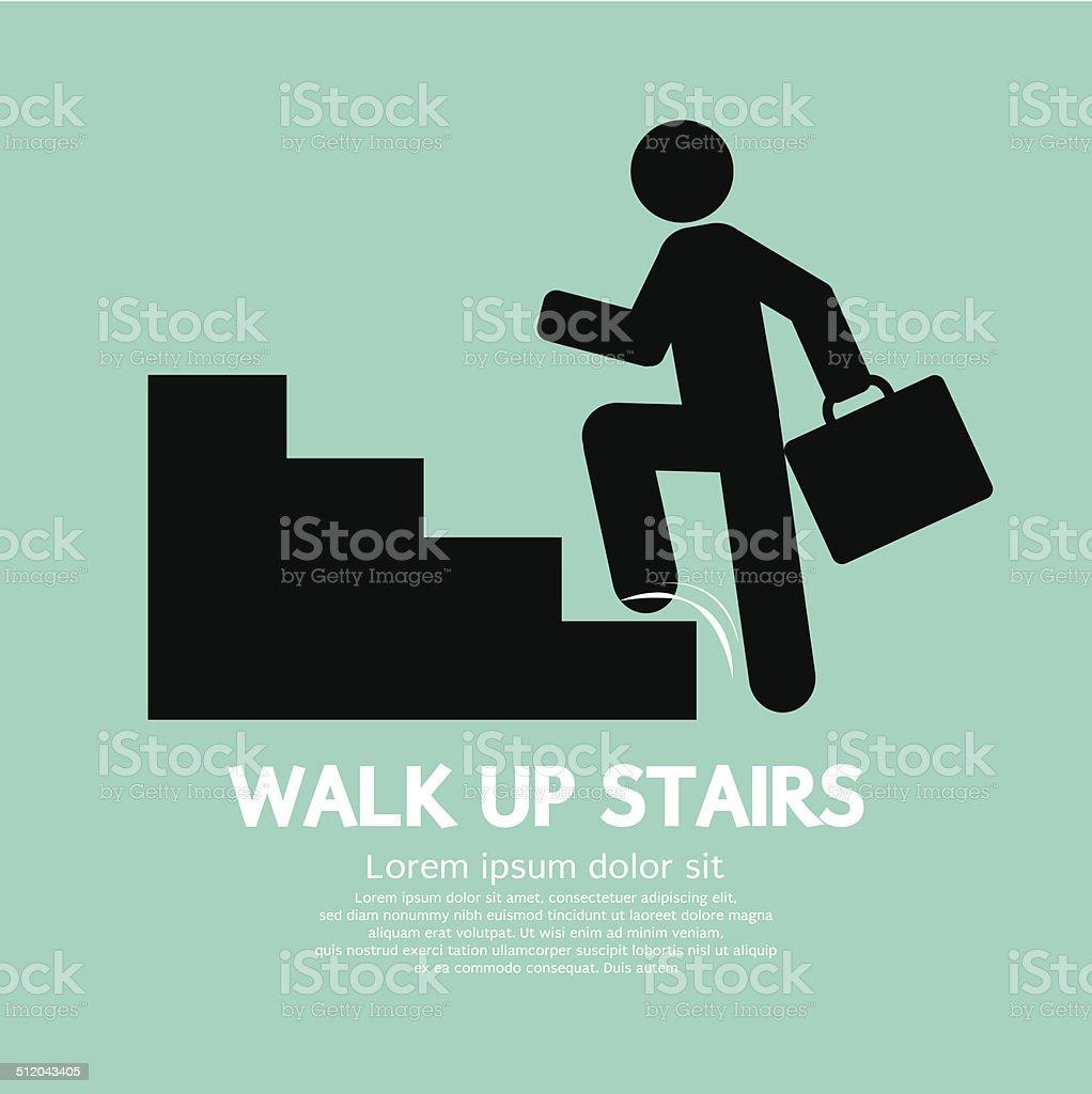 Walk Up Stairs Symbol Vector Illustration vector art illustration