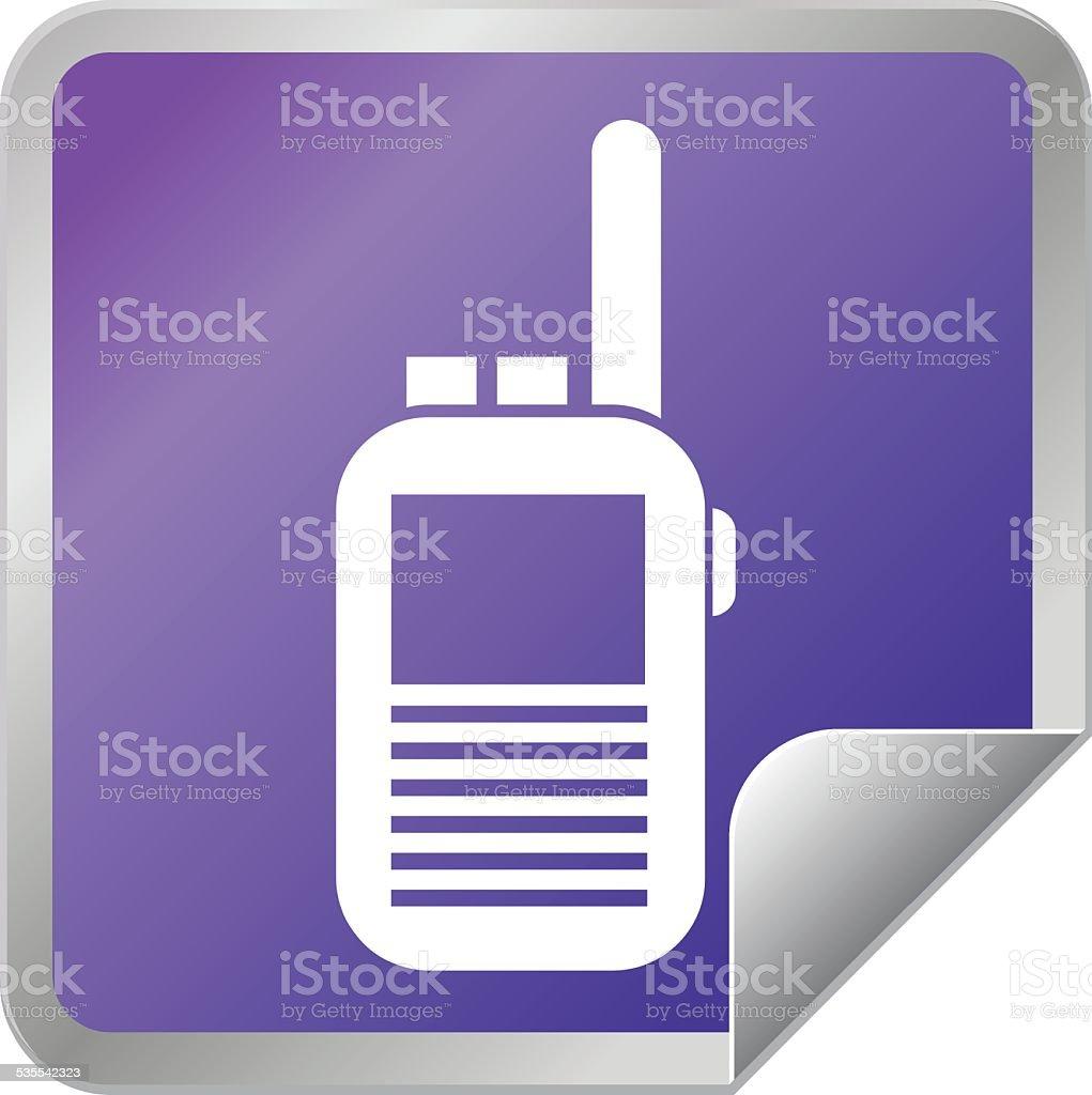 Walkie Talkie radio sticker icon vector art illustration