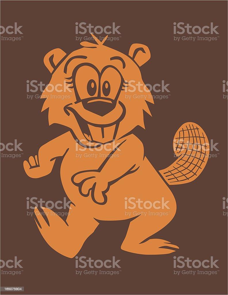 Walking Beaver royalty-free stock vector art