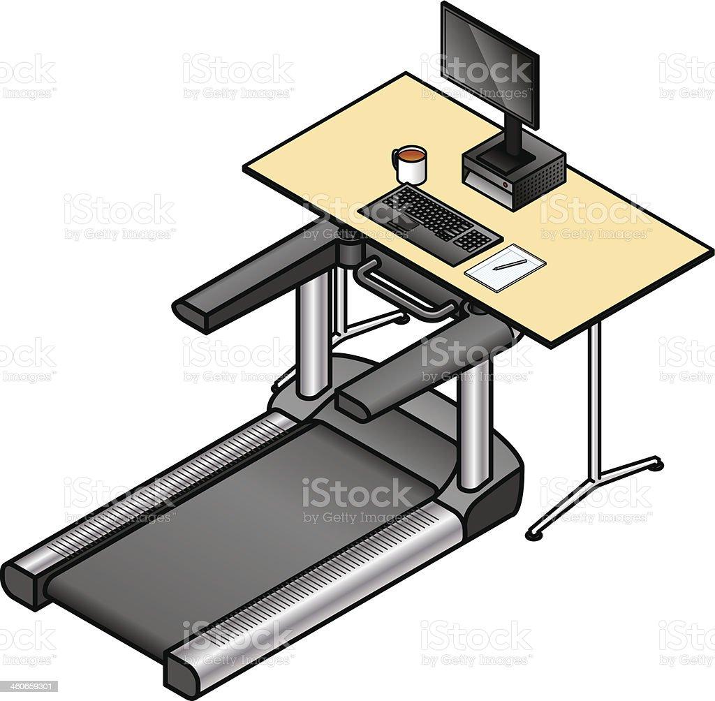 Walking Desk vector art illustration