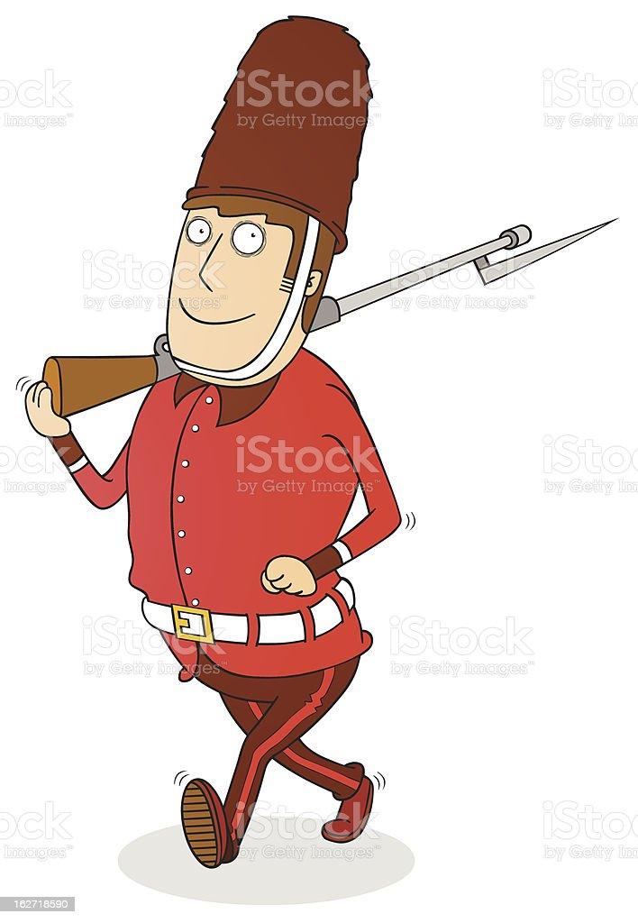 walking royal guard royalty-free stock vector art