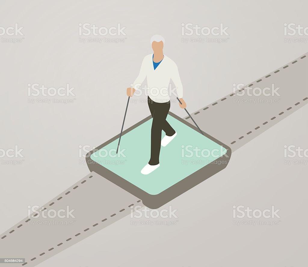 Walking Tracker Illustration vector art illustration