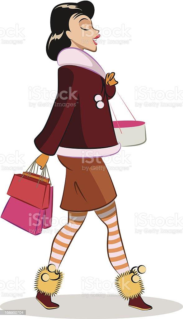 Walking woman royalty-free stock vector art
